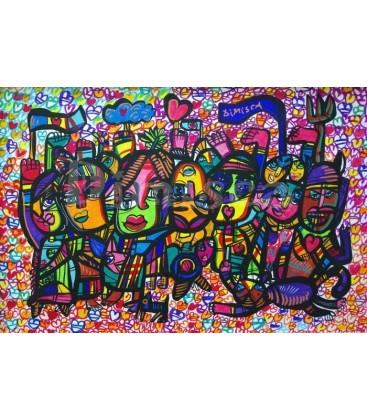 Love strike Painting