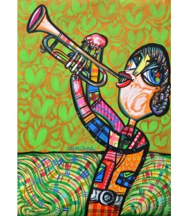 THE TRUMPETER Painting