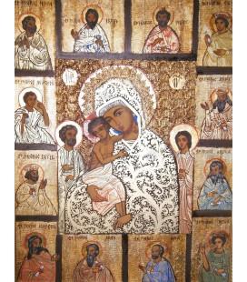 Icoana - Maica Domnului si cei 12 Apostoli